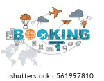 booking website banner concept... | Shutterstock .eps vector #561997810