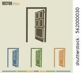 open door vector icon | Shutterstock .eps vector #562000030