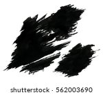 black ink grungy blots. black... | Shutterstock .eps vector #562003690