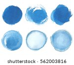 blue watercolor blotch. set of... | Shutterstock .eps vector #562003816
