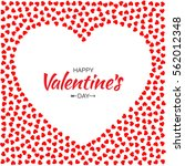 abstract red small hearts... | Shutterstock .eps vector #562012348