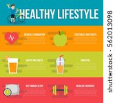 healthy lifestyle infographic
