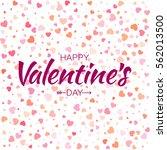 vector violet happy valentines... | Shutterstock .eps vector #562013500