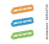 limited edition sticker labels | Shutterstock .eps vector #562013710