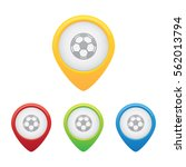soccer or football pins | Shutterstock .eps vector #562013794