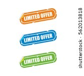 limited offer sticker labels | Shutterstock .eps vector #562013818