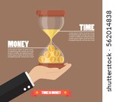 time is money infographic.... | Shutterstock .eps vector #562014838