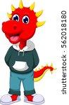 cute triceratops cartoon posing   Shutterstock .eps vector #562018180
