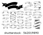ribbon banner drawing set.... | Shutterstock .eps vector #562019890
