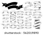 ribbon banner drawing set.... | Shutterstock .eps vector #562019890