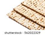 jewish matza on passover | Shutterstock . vector #562022329