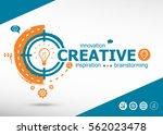 creative and marketing concept... | Shutterstock .eps vector #562023478
