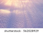 the snow on the field  brightly ... | Shutterstock . vector #562028929