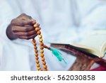 african muslim man making... | Shutterstock . vector #562030858