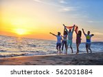 group of happy young people... | Shutterstock . vector #562031884