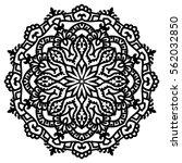 mandala for painting. vector... | Shutterstock .eps vector #562032850