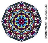 mandala. vector ethnic oriental ... | Shutterstock .eps vector #562033033