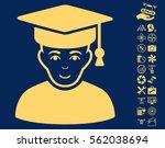 professor pictograph with bonus ... | Shutterstock .eps vector #562038694