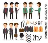 businessman character creation... | Shutterstock .eps vector #562039570