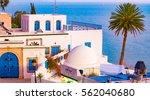 sidi bou said  famouse village... | Shutterstock . vector #562040680