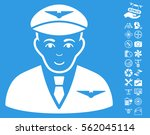 pilot icon with bonus uav tools ... | Shutterstock .eps vector #562045114