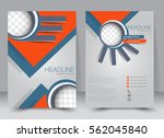 brochure template. business... | Shutterstock .eps vector #562045840