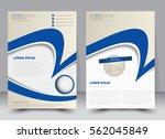 brochure template. business... | Shutterstock .eps vector #562045849