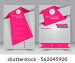 brochure template. business... | Shutterstock .eps vector #562045900
