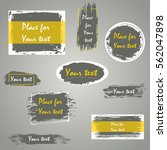 hand drawn grunge brush strokes ... | Shutterstock .eps vector #562047898