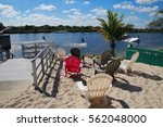 Red And White Lounge Chairs At...