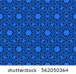 decorative floral seamless...   Shutterstock .eps vector #562050364