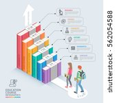books step education timeline.... | Shutterstock .eps vector #562054588