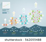 business tree timeline... | Shutterstock .eps vector #562055488