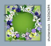 Spring  Primroses 3d Card With...