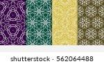 set of modern floral pattern of ... | Shutterstock .eps vector #562064488