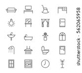 home furniture thin icons | Shutterstock .eps vector #562065958