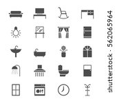 home furniture flat icons | Shutterstock .eps vector #562065964