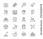 health care thin icons | Shutterstock .eps vector #562066018