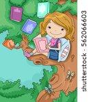 illustration of a cute little... | Shutterstock .eps vector #562066603