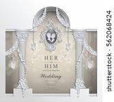 wedding invitation card...   Shutterstock .eps vector #562068424