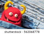 Funny Red Devil Toy In The...