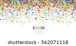 falling confetti abstract... | Shutterstock .eps vector #562071118