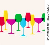 restaurant or wine bar menu... | Shutterstock .eps vector #562072210