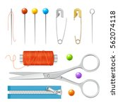 Realistic Sewing Tools...