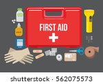 first aid kit | Shutterstock .eps vector #562075573