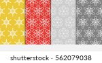 set of seamless flower lace... | Shutterstock .eps vector #562079038