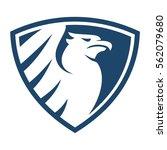 griffin blue shield | Shutterstock .eps vector #562079680