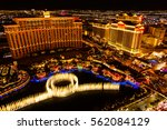 fountains and hotels  on las... | Shutterstock . vector #562084129