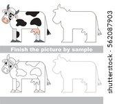 drawing worksheet for preschool ... | Shutterstock .eps vector #562087903