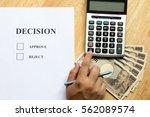 business man calculate for... | Shutterstock . vector #562089574